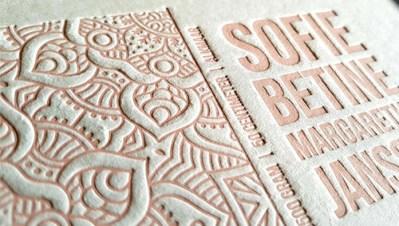 2 mm dik karton letterpress