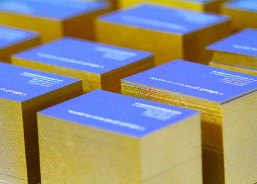 Kleur op snede goud metallic