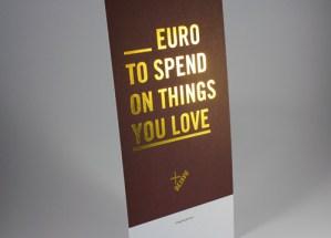 Promo kaart met goudfolie