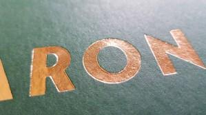 Foliedruk letterpress geboortekaart