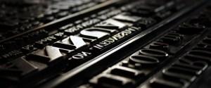 oude letters letterpress