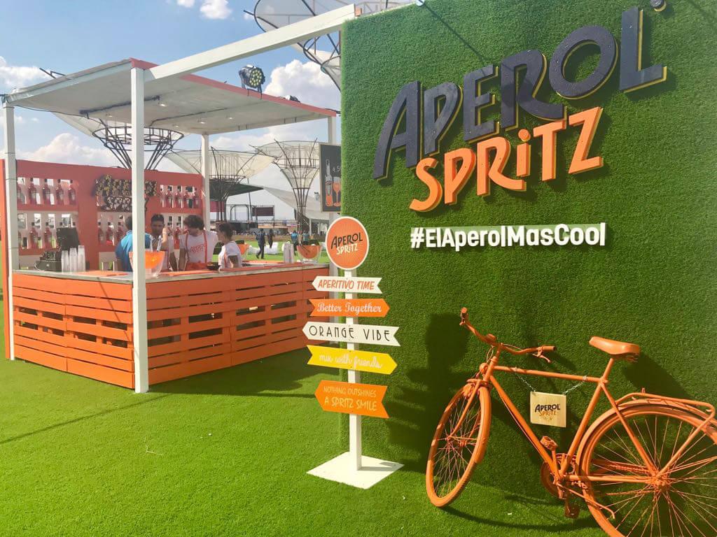 producción y realización de eventos para Aperol en Mad Cool