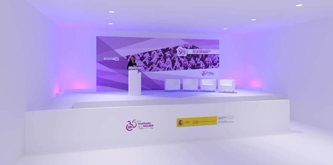 Diseño 3d del escenario