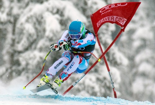 Dec 6, 2013; Beaver Creek, CO, USA; Alexander Bouillot (FRA) during the men's downhill at the FIS alpine skiing World Cup at Beaver Creek Mountain. Mandatory Credit: Paul Bussi-USA TODAY Sports ORG XMIT: USATSI-164538 ORIG FILE ID: 20131206_jla_bb8_212.jpg
