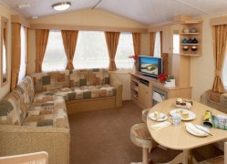 The Fistral Holiday Home living room at Monkey Tree Holiday Park