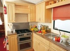 Crantock Holiday Home kitchen at Monkey Tree Holiday Park near Newquay