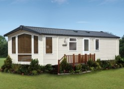 Holywell Holiday Home exterior at Monkey Tree Holiday Park