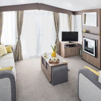 Watergate Holiday Home living room at Monkey Tree Holiday Park