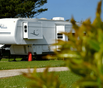 touring pitch at Monkey Tree Holiday Park