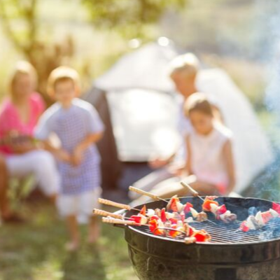 family camping at Monkey Tree Holiday Park