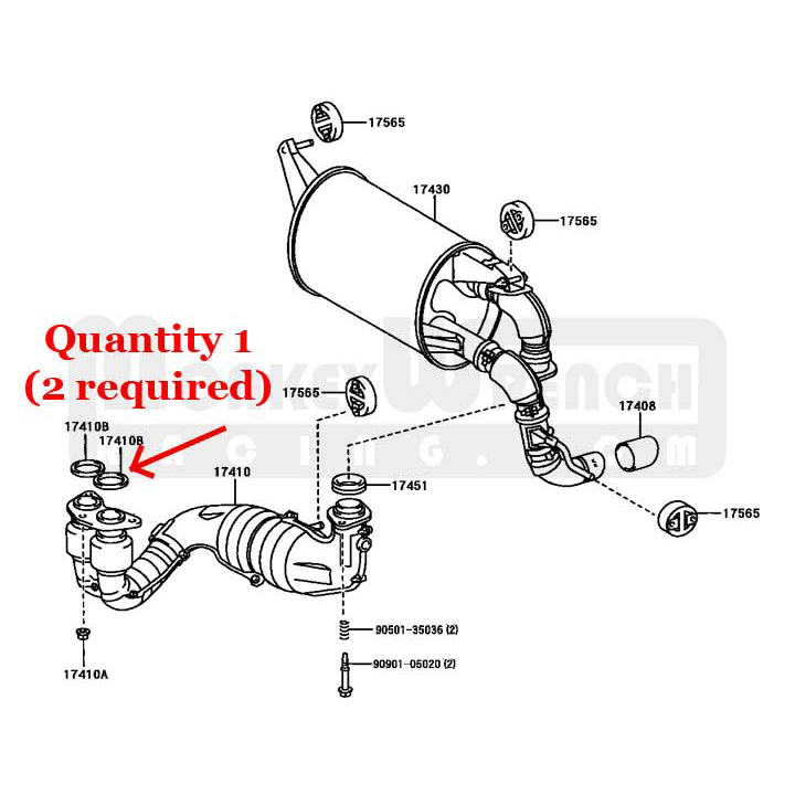 Toyota OEM Exhaust Manifold Outlet Gasket