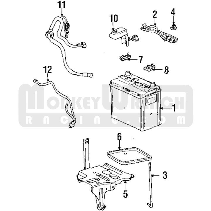 Toyota OEM Battery Tray (metal)