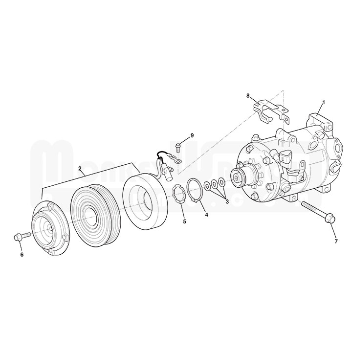 Lotus OEM Air Conditioning AC Compressor Clutch Only