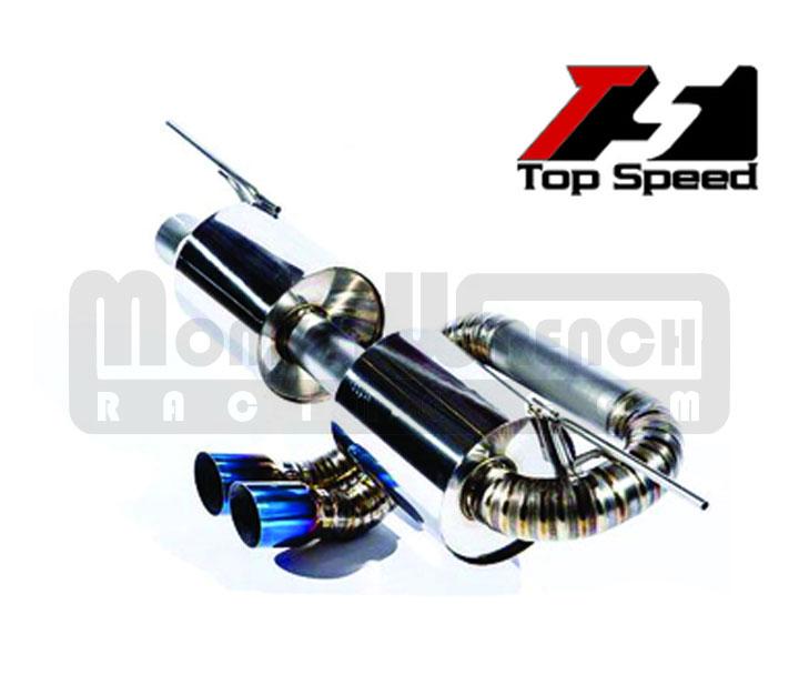 top speed catback exhaust lotus elise exige 2 eleven 2005 12 titanium