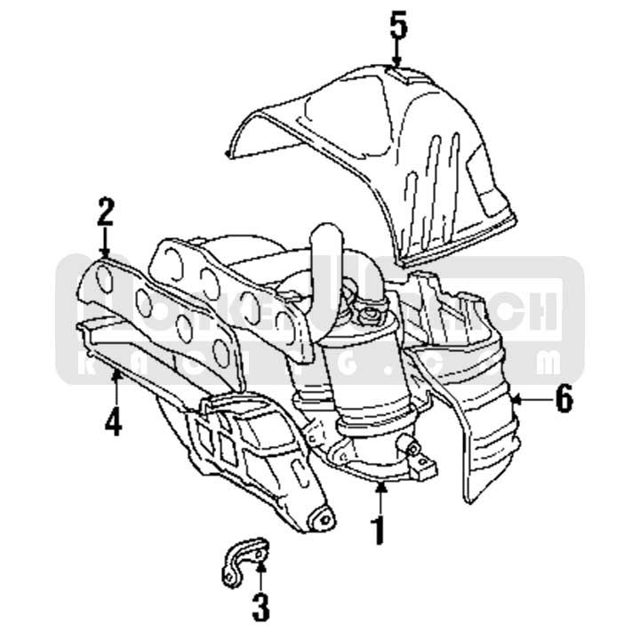 Toyota OEM Heat Shield – Exhaust Manifold (Upper)