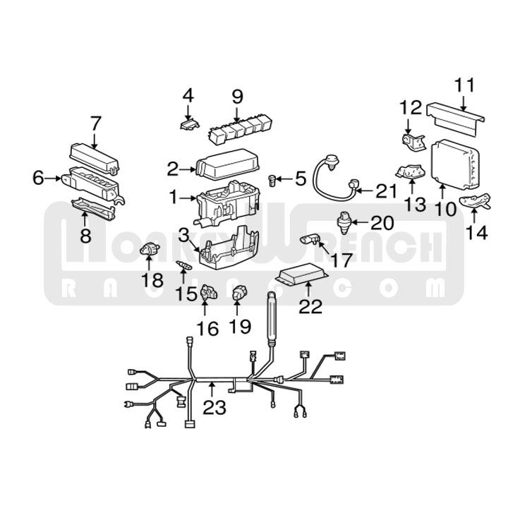 Toyota OEM Fuse Box Cover – 2000-05 MR2 Spyder