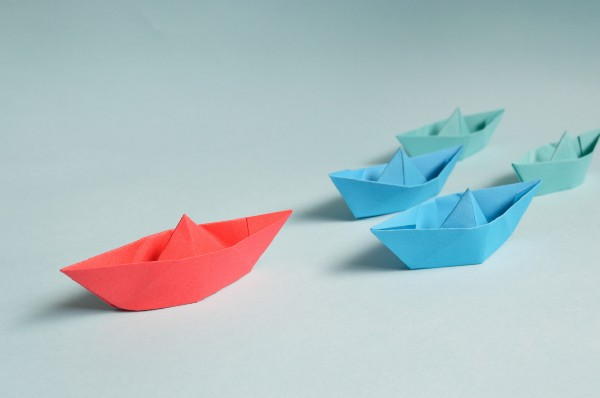 Paper boats image