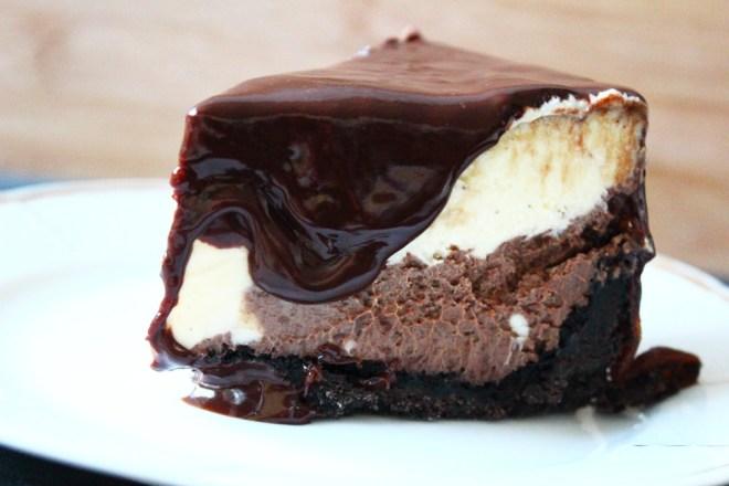 Schokoladen-Cheesecake-Torte
