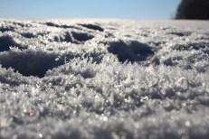 Fotografie Schnee Eiskristalle
