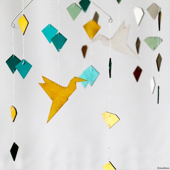 Mobile diy birds diamond