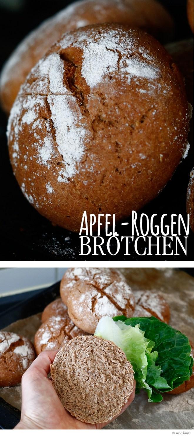 Apfel Roggenvollkorn Broetchen