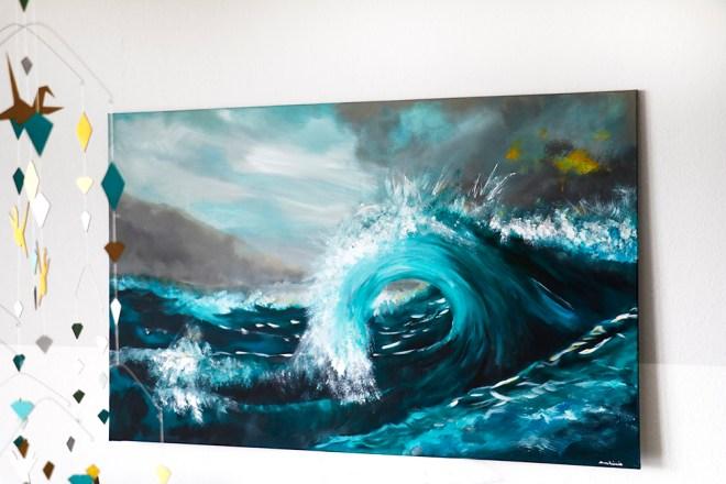 Wasserbild Kunst Wellen