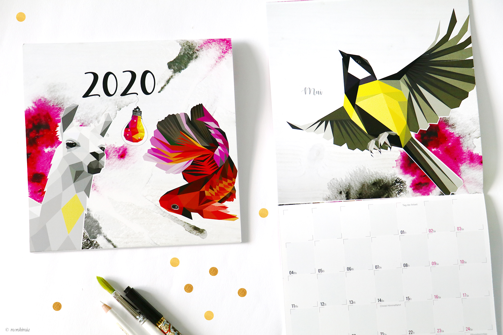 Kalender 2020 Monkimia Tier Illustrationen
