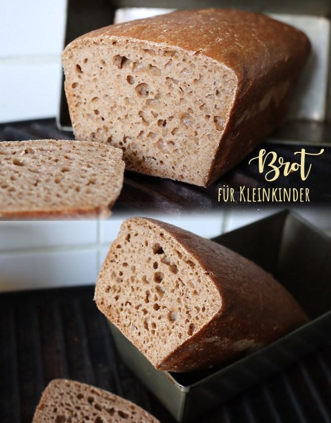 Brot für Kleinkinder und Babys weiche Kruste