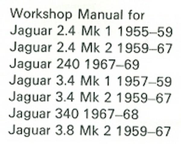 Jaguar Mk. 1 & Mk. 2 1955-1969
