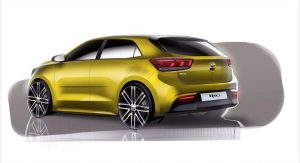 4th Generation Kia Rio_Exterior Rear Quarter Rendering_