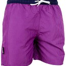 GUGGEN MOUNTAIN Maillot de bain pour homme de materiau high-tech slip shorts checked *differentes couleurs* Colour Pourpe XL