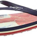 Pepe Jeans RAKE FLAG 16, tongs femme – Bleu – Blau (580SAILOR), 38