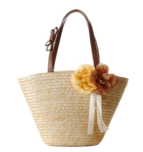 tonwhar paille tress e fleurs de plage en paille sac. Black Bedroom Furniture Sets. Home Design Ideas