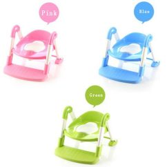 Potty Chair With Ladder Cheap Reclining Chairs Seat Baby Toilet Trainer Toddler Child Step Up Fold 3 In 1