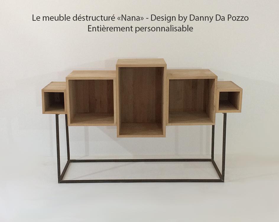 meuble design bois massif nana mon meuble design sur mesure