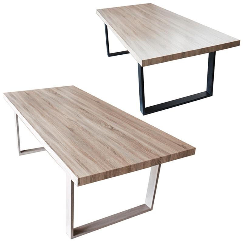 grande table a manger en mdf imitation bois en promotion