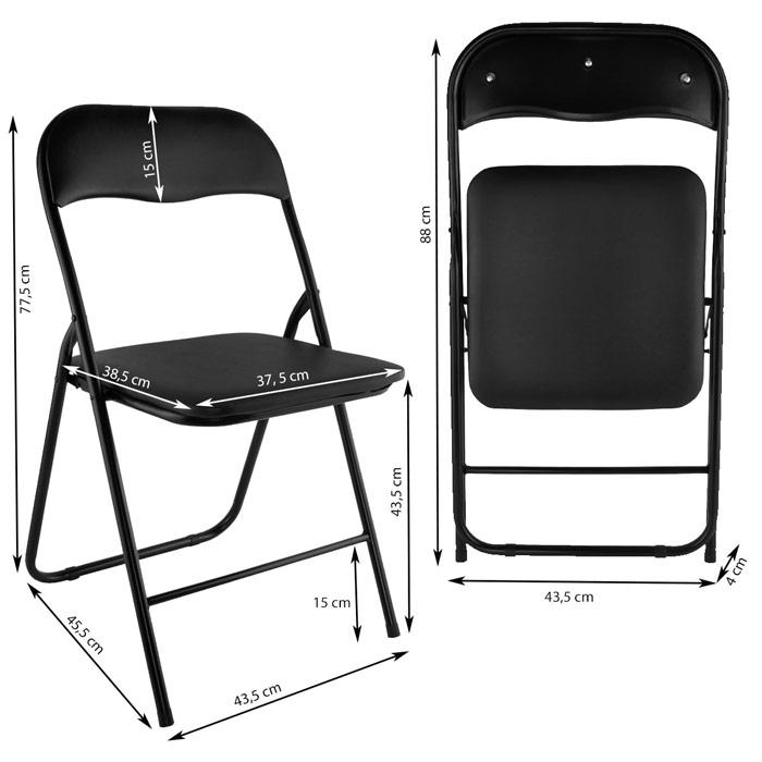 lot de chaises pliables en acier
