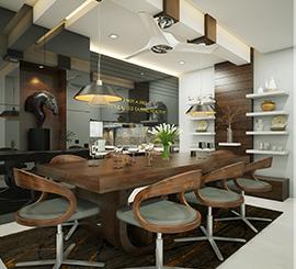 living room dining hall