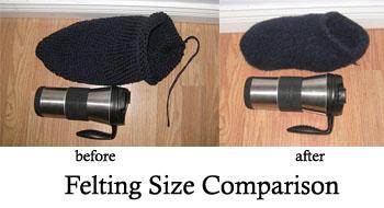 Felted Slipper comparison