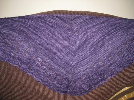 Purple Ishbel knit by Shelley (aka hairwolf)