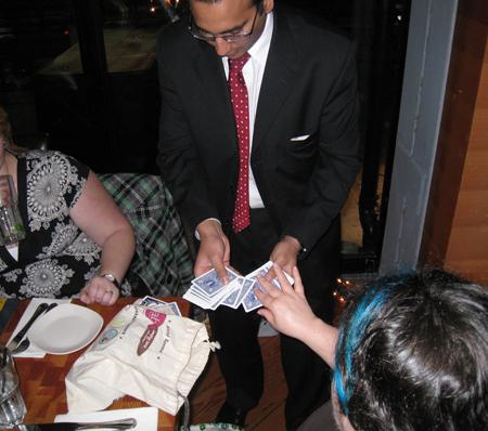 Card tricks at Yaletown Brewing Company