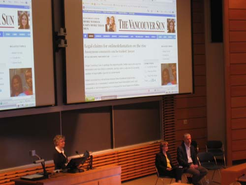 Northern Voice 2011: Social Media & Online Defamation Panel