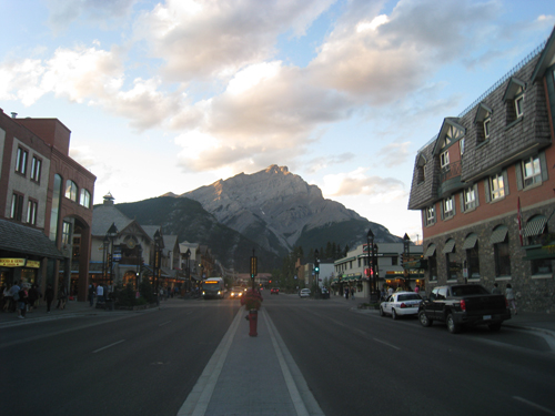 Arrival in Banff