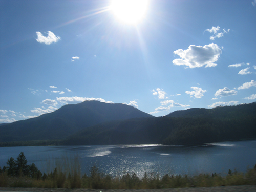 Driving into the Okanagan Valley