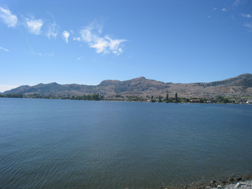 Dipped our toes into Okanagan Lake in Osoyoos before heading home