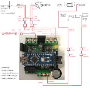 Fuelino Proto3 wiring diagram  Monocilindro Blog