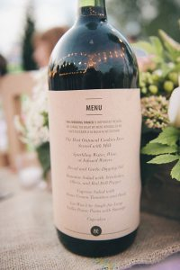 Menu on a Wine Bottle, brilliant!