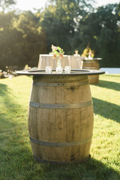 Wine Barrel Tables!