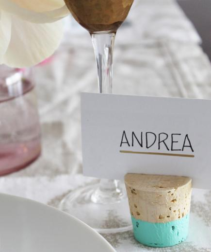 Color Dipped Placecard Holders