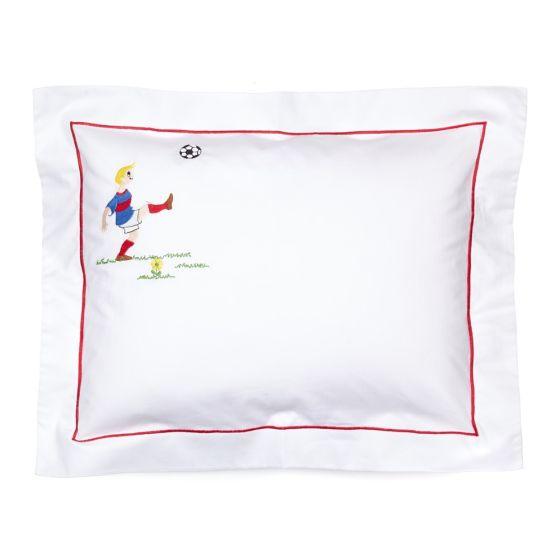 baby pillowcase footballer pillow sold separately